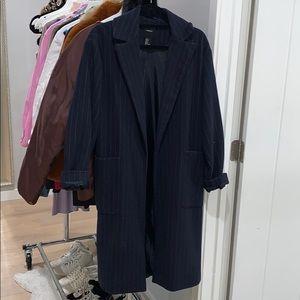 Pin stripe trench coat
